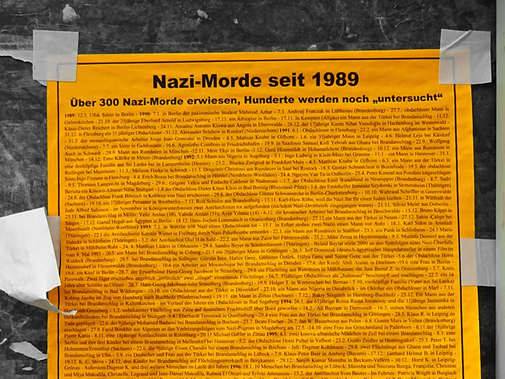 Nazi-Morde seit 1989