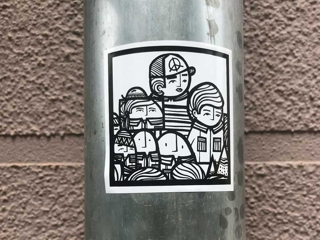 P.Y.C.-Sticker in Frankfurt
