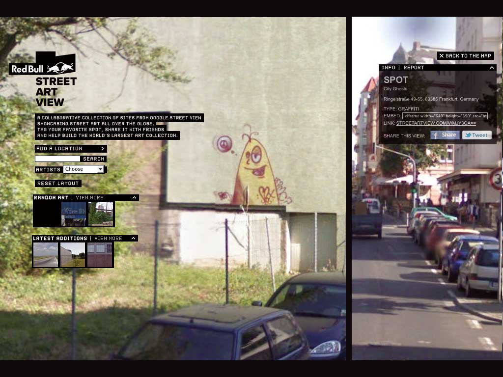 "Red Bull ""Street Art View"" Maps"