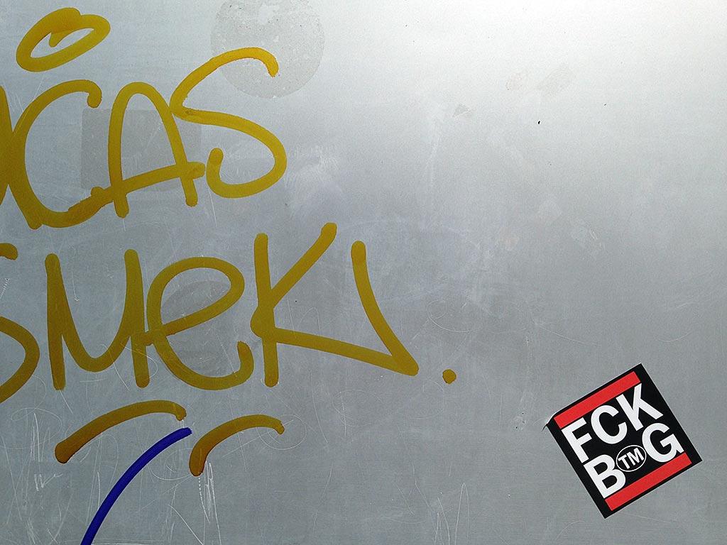 RUN DMC Logo-Variante FCK BTMG