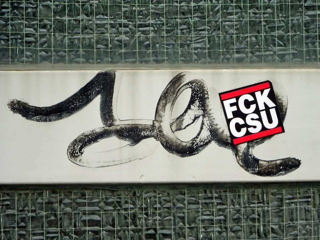 Aufkleber im RUN DMC Design - FCK CSU