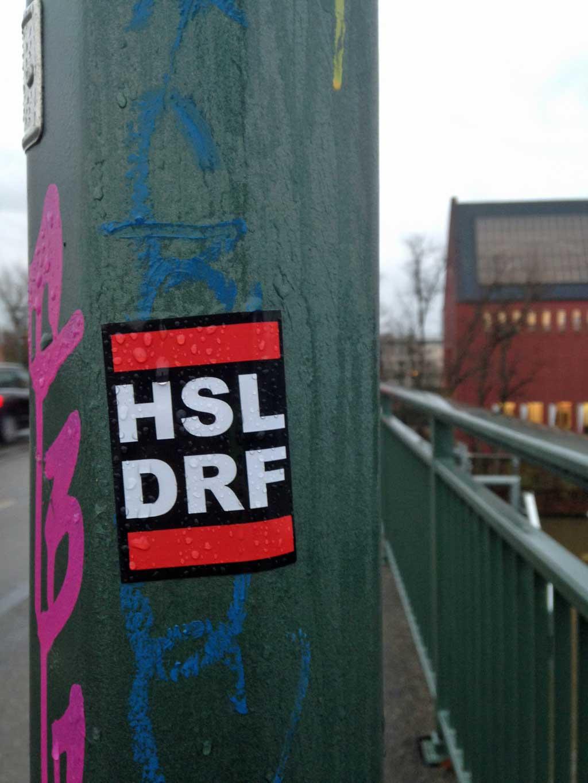 Aufkleber im RUN DMC Design - HSL DRF