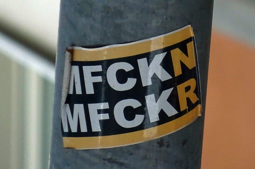 Aufkleber im RUN DMC Design - MFCKN MFCKR