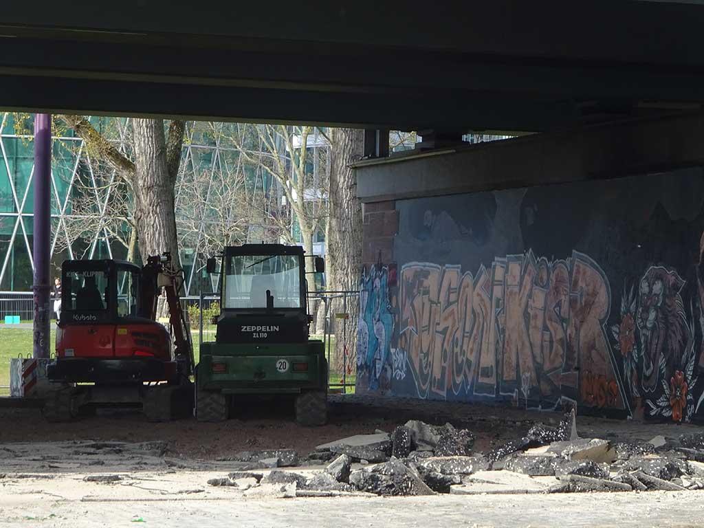 Sanierung der Skateanlage an der Friedensbrücke in Frankfurt am Main
