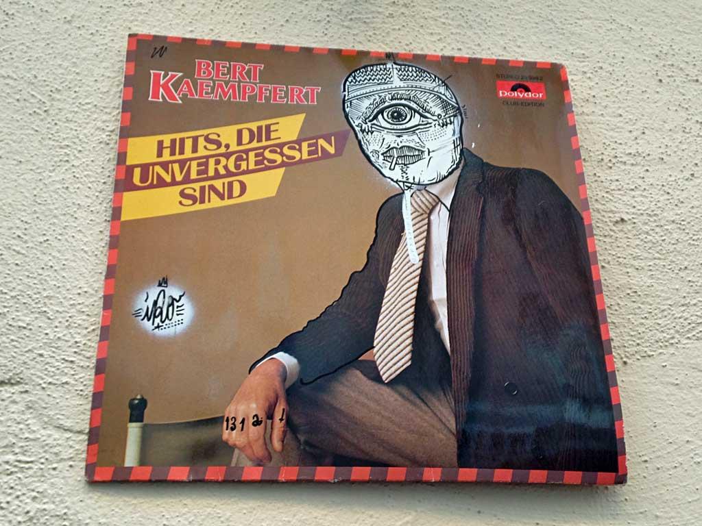 Schallplatten-Streetart