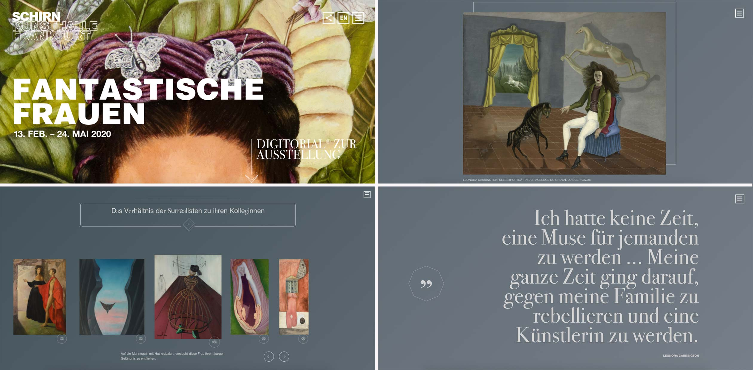 """Schirn - Digitorial zur Ausstellung """"Fantastische Frauen"""""""