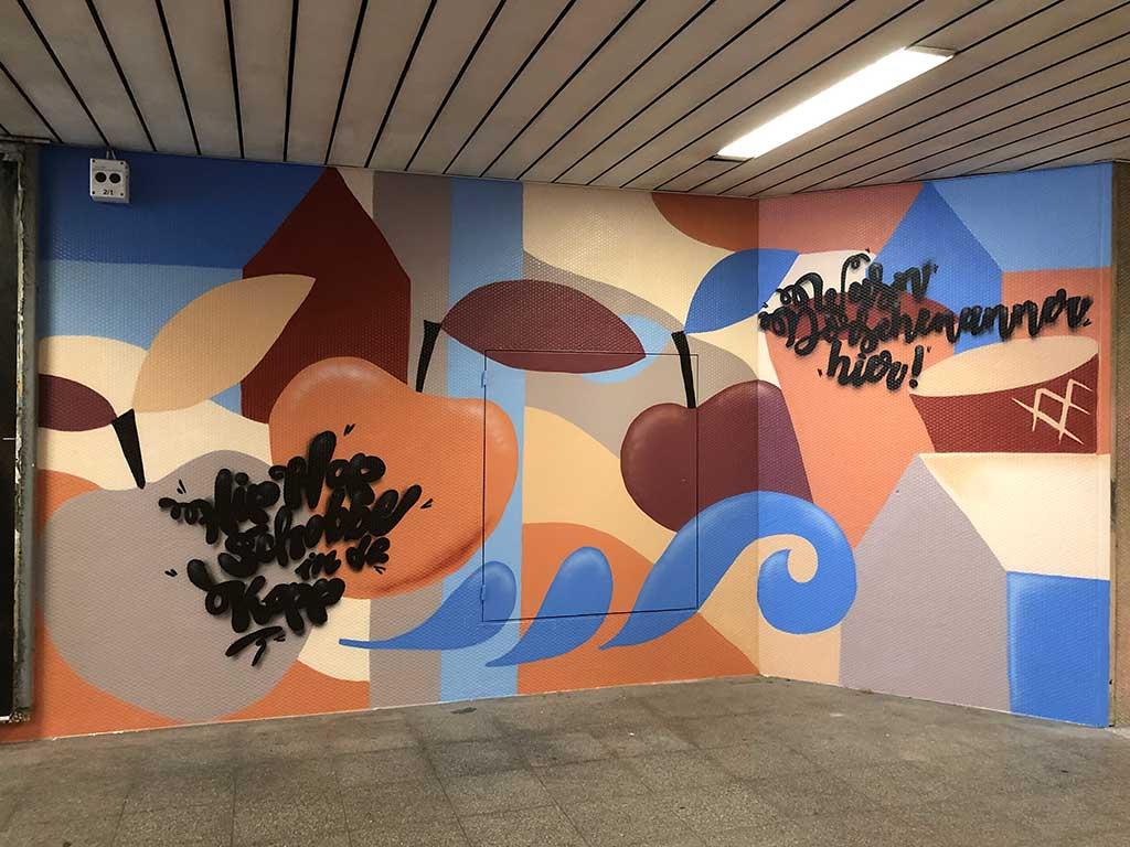 Schoppe in de Kopp - Streetart im Lokalbahnhof