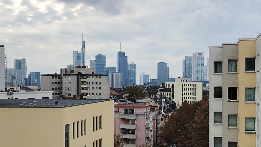 Skylineblick in Frankfurt