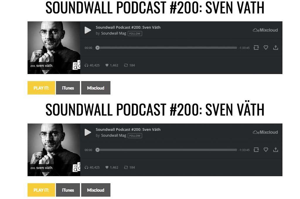 Soundwall Podcast mit Sven Väth