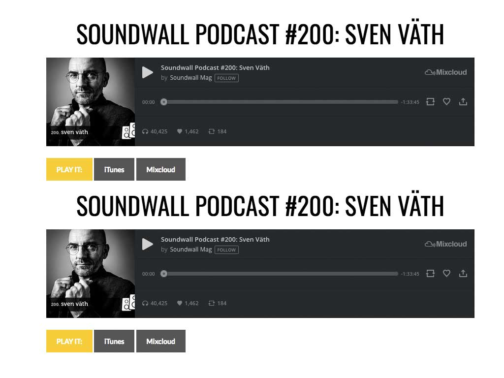 Soundwall Podcast mit Sven Väth