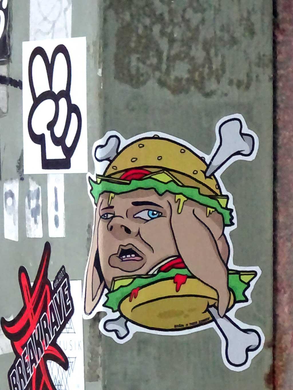 Spämburger-Remix Aufkleber