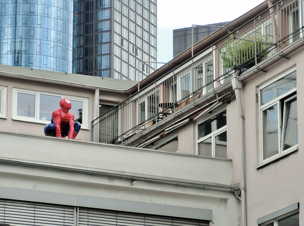 Spiderman in Frankfurt