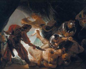 Rembrandt, Die Blendung Simsons, 1636