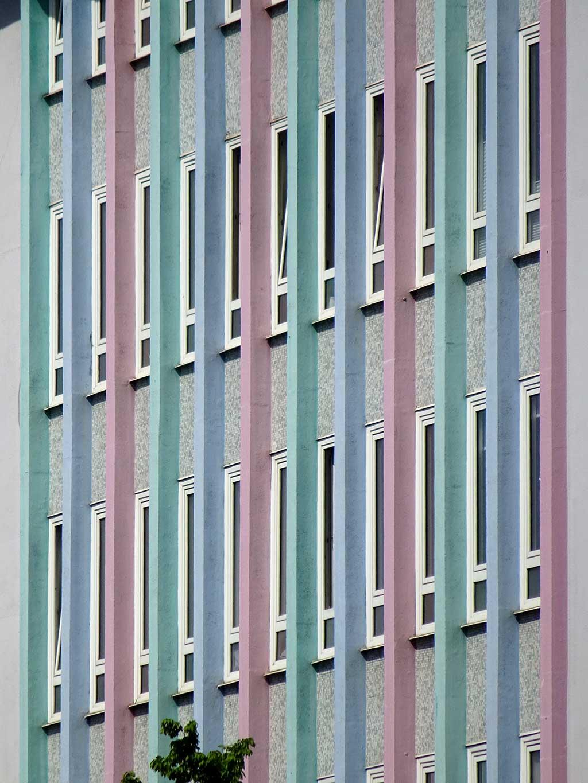 Hausfassade in der Frankfurter Straße