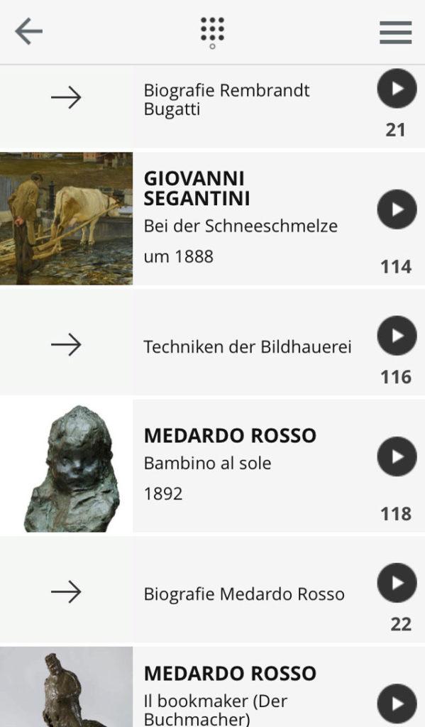 STÄDEL-App zur Ausstellung EN PASSANT