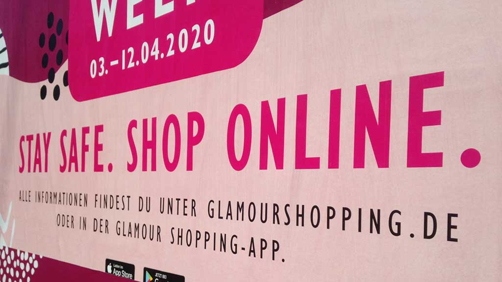 Corona-bedingte Werbung für den Onlinehandel
