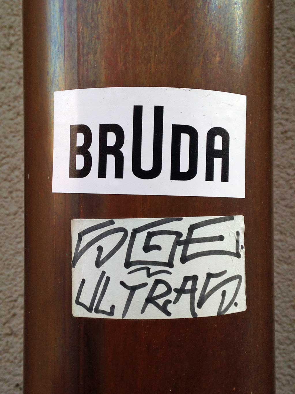 Sticker Art - Bruda