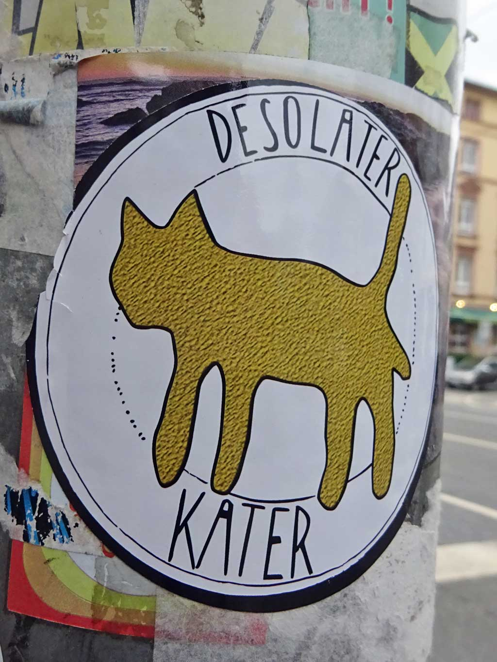 Sticker Art - Desolater Kater