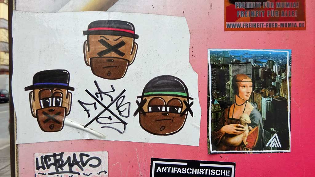 Sticker Art - FABS, ULTRAS, Drei Linien