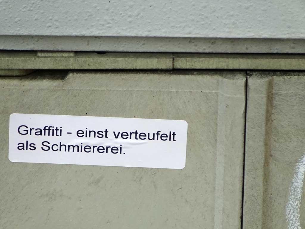 Sticker Art - Graffiti – einst verteufelt als Schmiererei