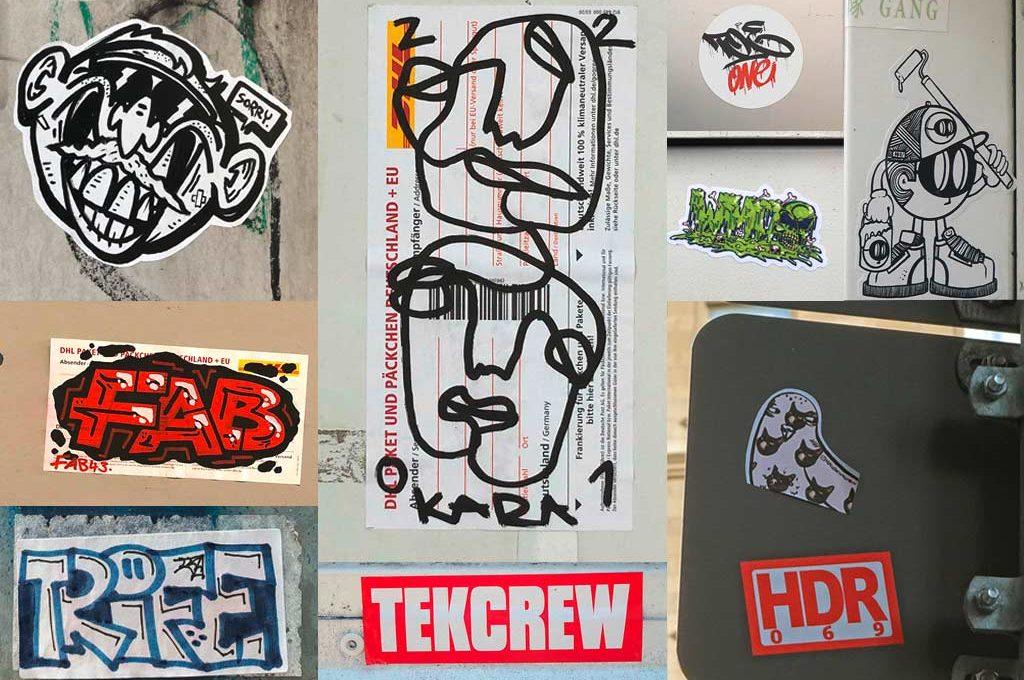 Sticker-Art in Frankfurt