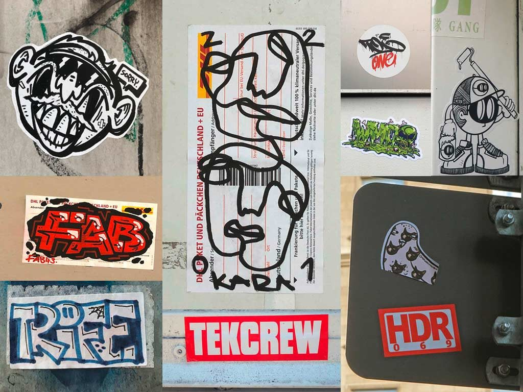 Sticker-Art in Frankfurt