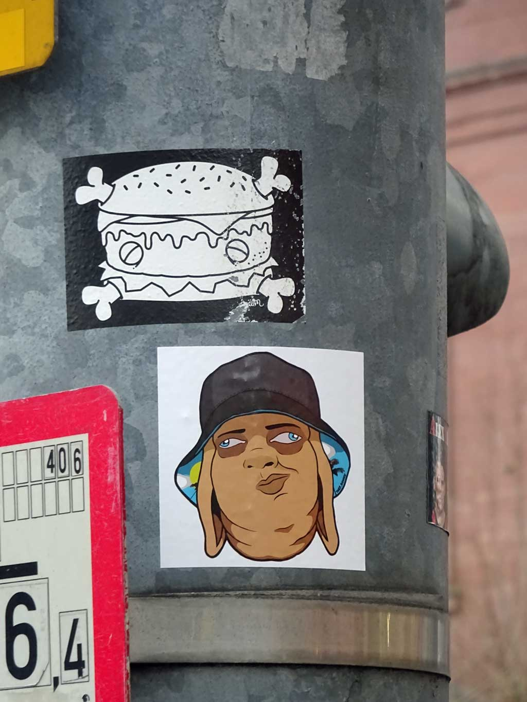 Sticker Art - Späm (Burger-Motiv)