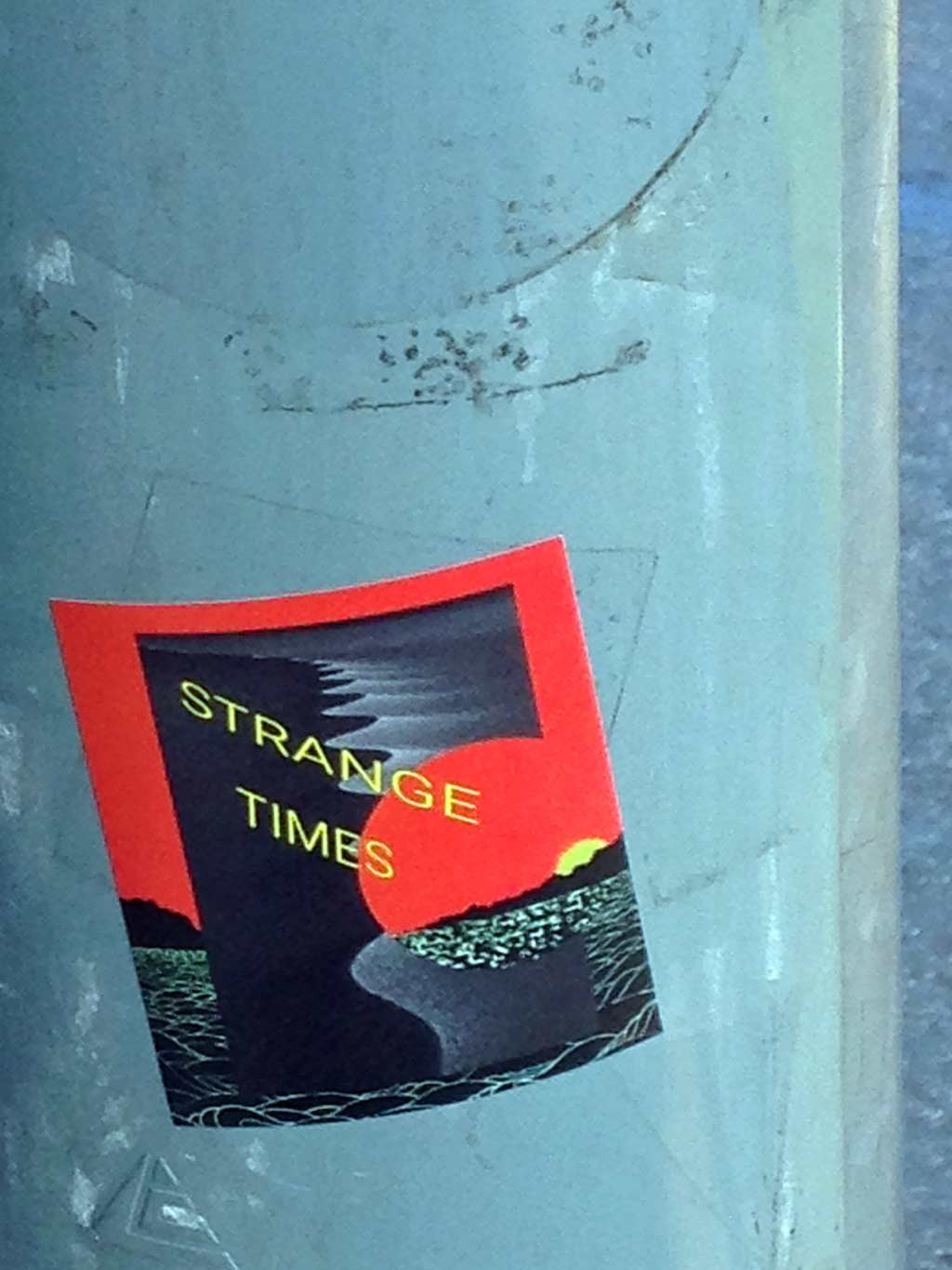 Sticker Art - Strange Times