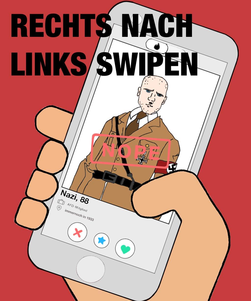 Sticker gegen Rechts 2019