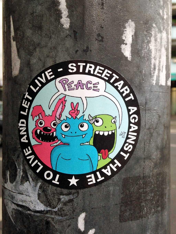 Streetart against Hate - Peace