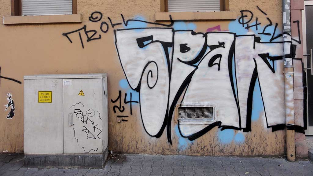 Straßengraffiti aus dem Jahr 2014