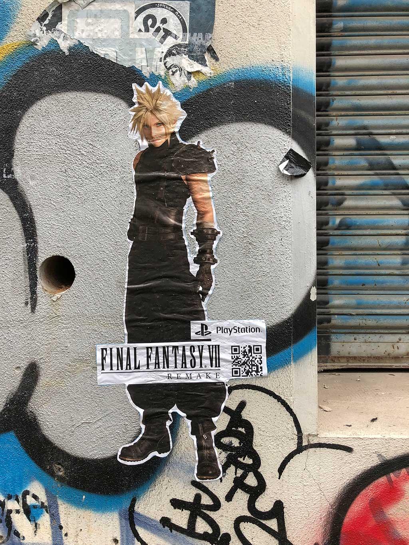 Street Marketing Final Fantasy VII Remake