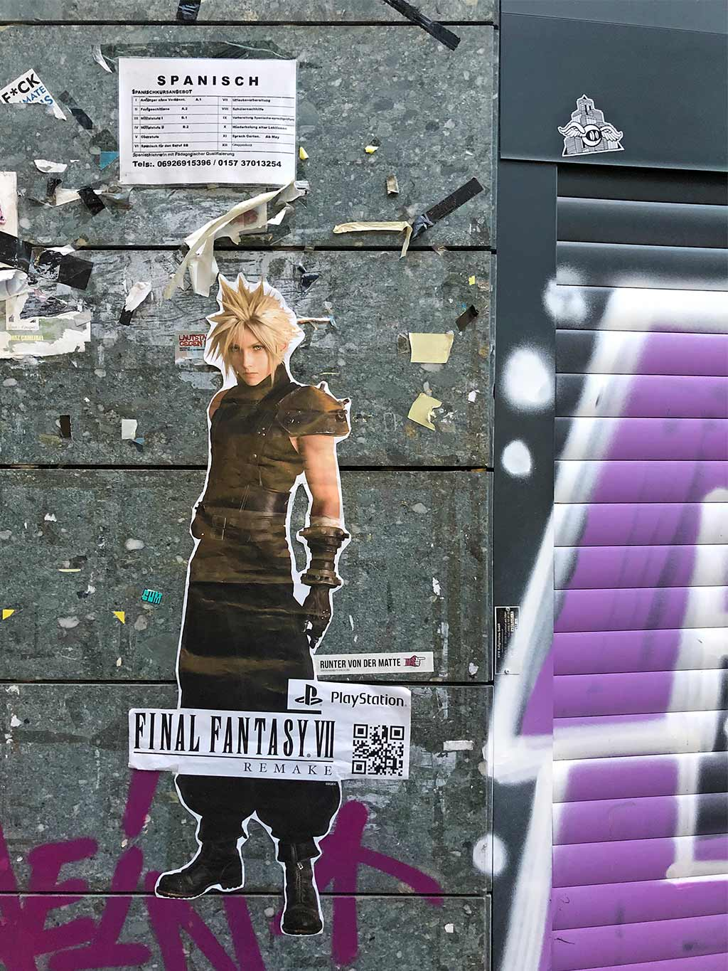 Street Marketing Final Fantasy VII Remake