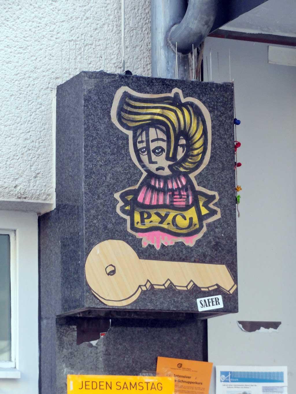 Schlüssel-Motive in der Streetart