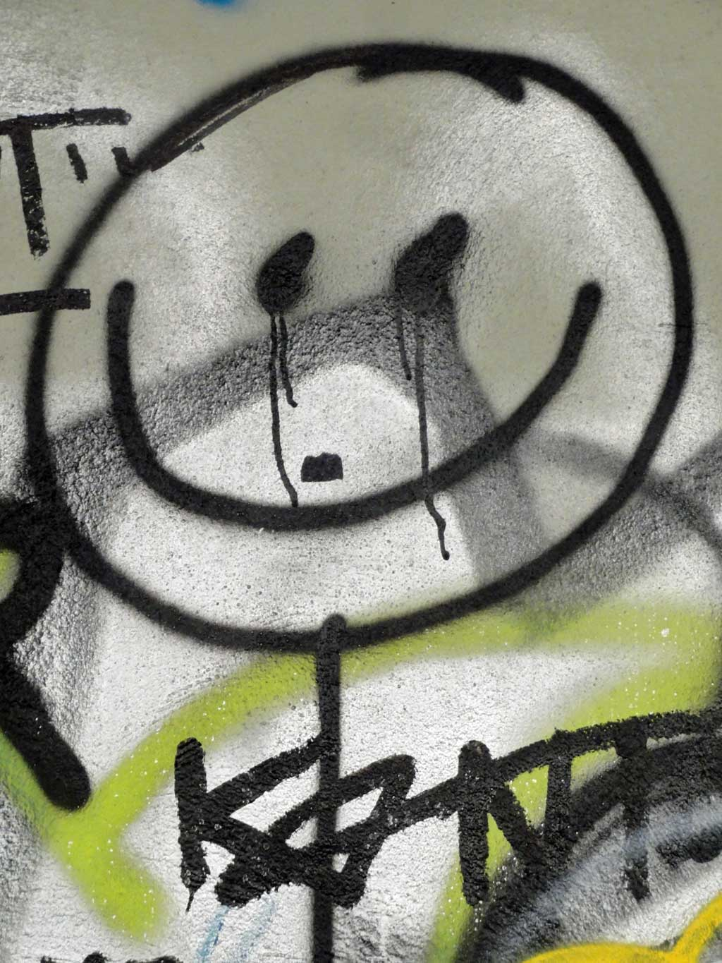 Smiley mit Drips in Frankfurt