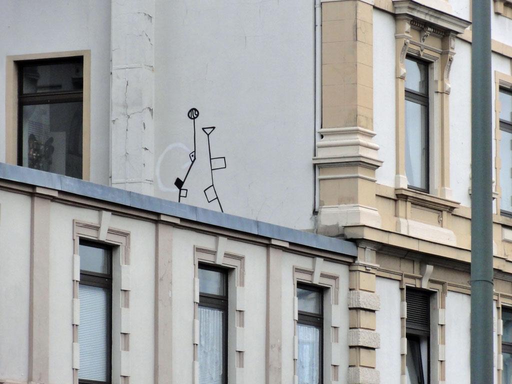 Streetart in Frankfurt - Eckige Blumen