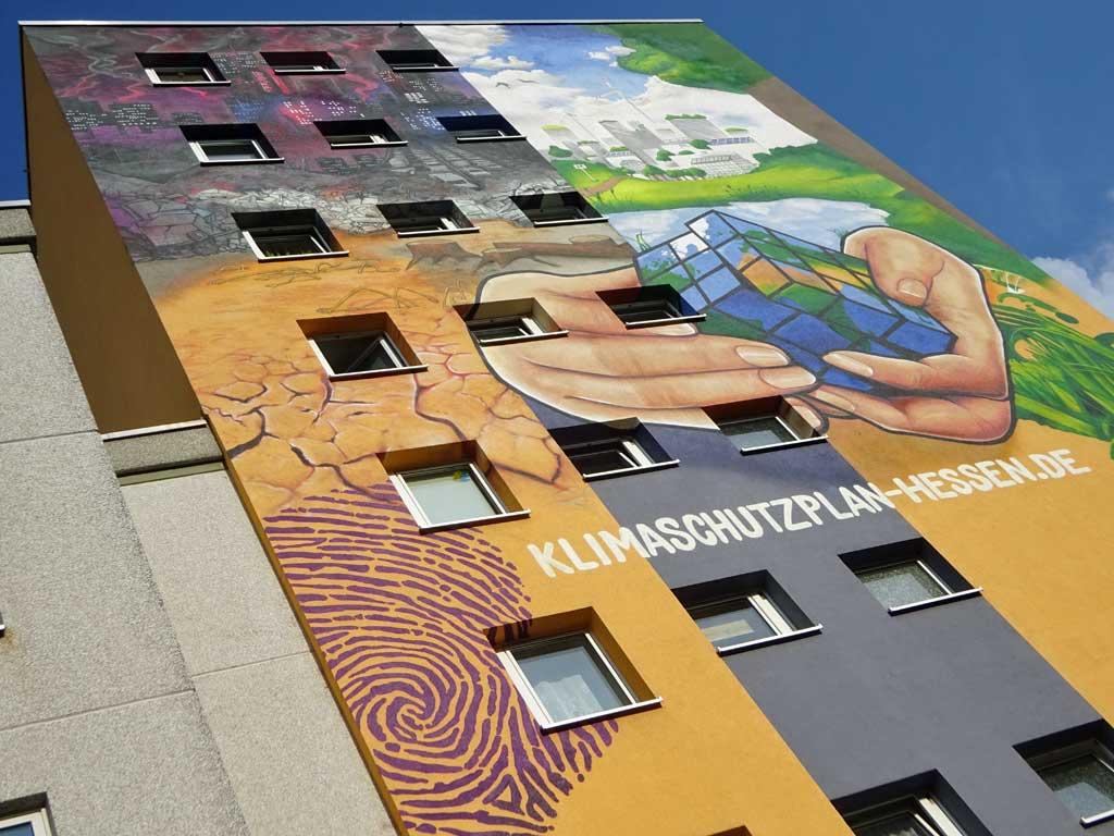 Streetart-Fotografie in Frankfurt - Klimaschutzplan-Mural von Cor