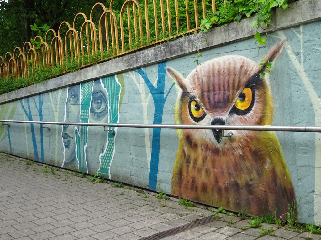 Streetart in Frankfurt-Ginnheim von Cor / Naxos Atelier