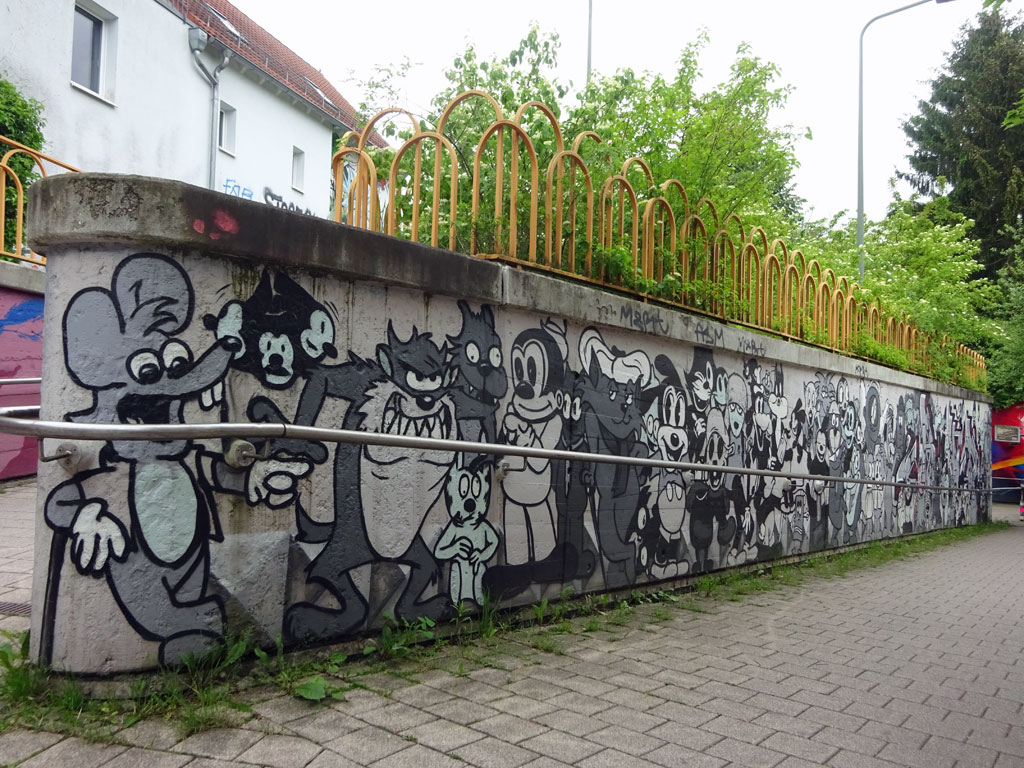 Urban Art in Frankfurt-Ginnheim von Cor / Naxos Atelier