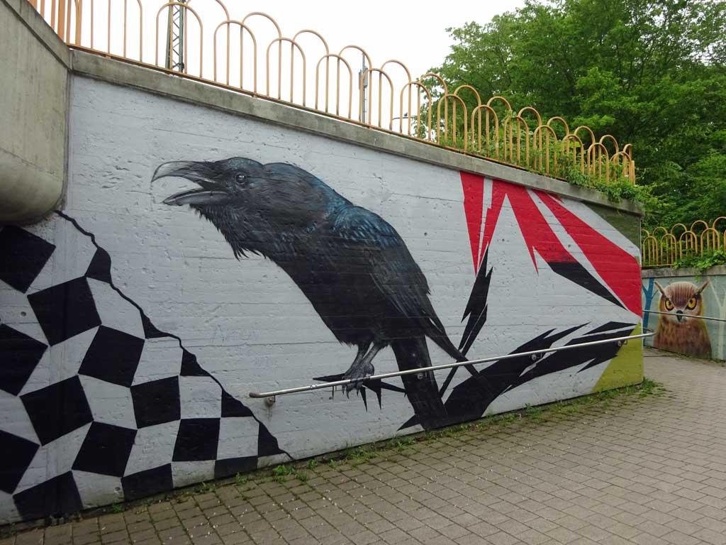 Mural in Frankfurt-Ginnheim von Cor / Naxos Atelier