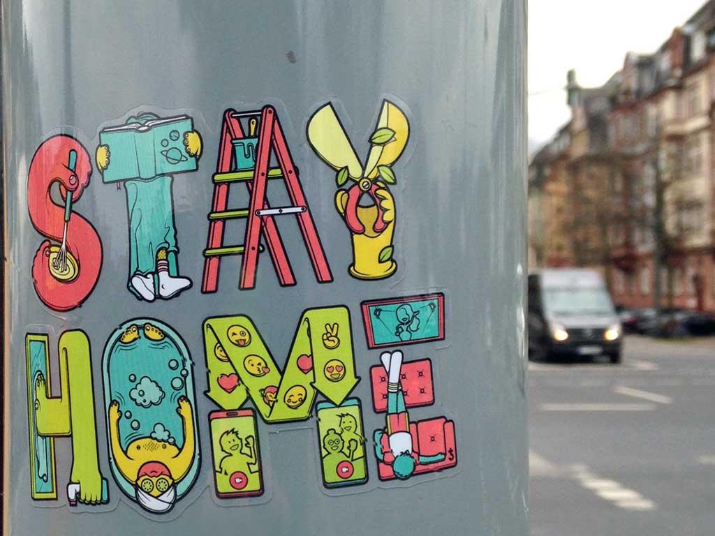 Corona-Streetart - Stay Home