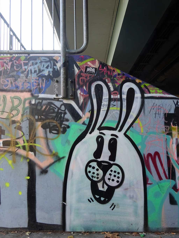 Streetart mit dem Hasen