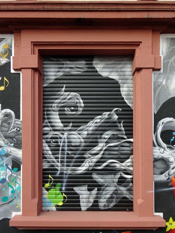 Streetart in Frankfurt von Honsar