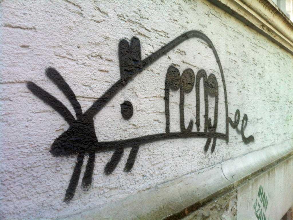 Streetart mit der Maus