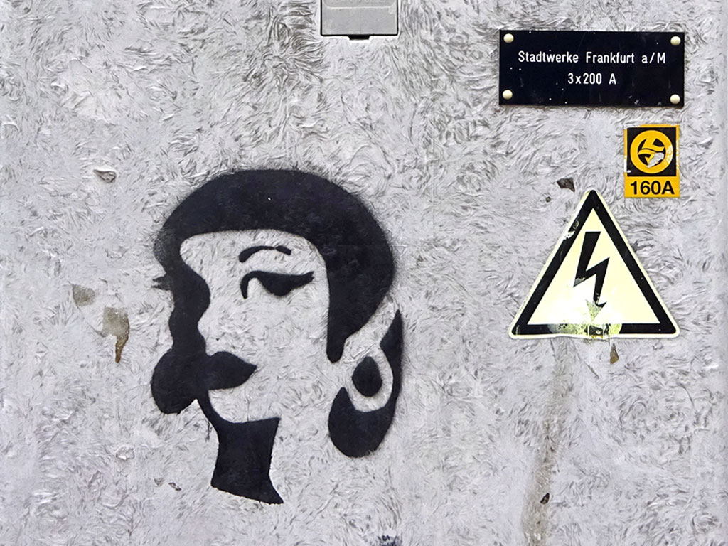 Streetart Stencil Female Face