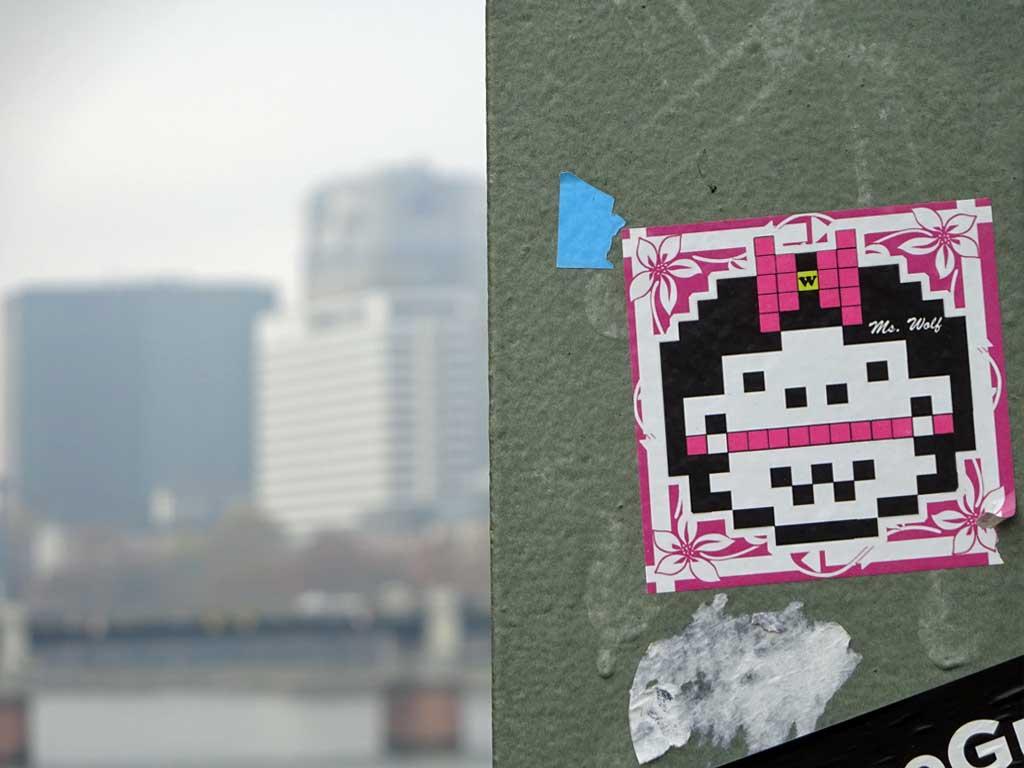 Streetart - Sticker by Wolf