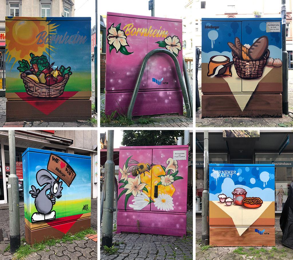 Stromkasten-Graffiti in Bornheim Mitte