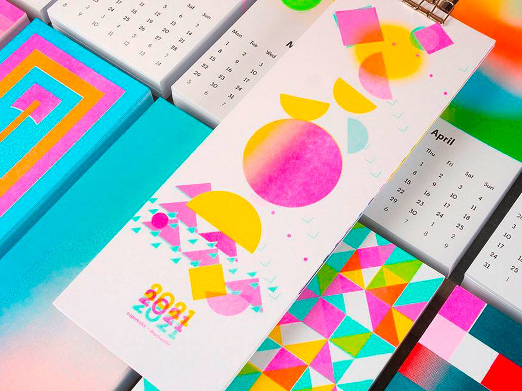 Superkolor - Riso Wall Calendar 2021