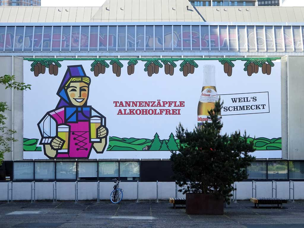 Werbe-Banner für Tannenzäpfle Alkoholfrei