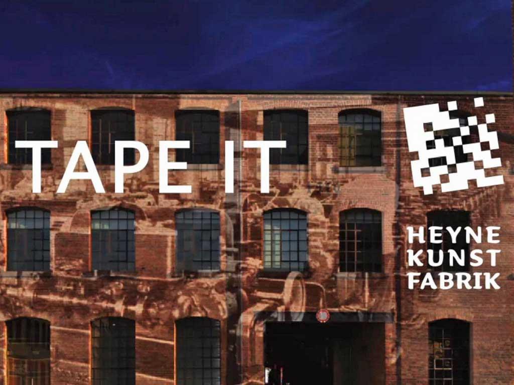 Tape it Ausstellung in der Heyne Kunst Fabrik in Offenbach